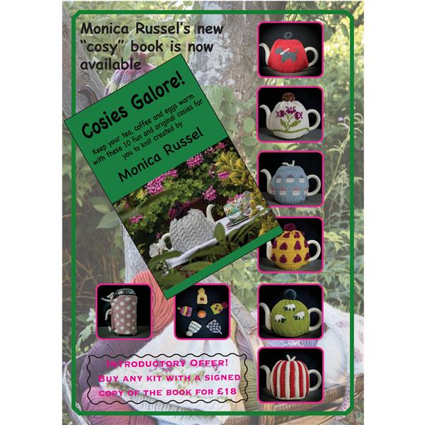 Cosies Galore, new pattern book by Monica