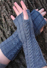 Belated Handwarmers in Silk Blend