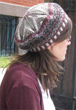 Fair Isle Tam in Silk Blend