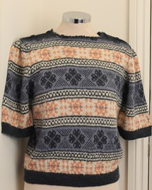 Fair Isle Frenzy Short Sleeved Vintage Styled Jumper