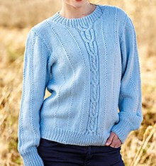 Cable and textured unisex jumper downloadable pattern