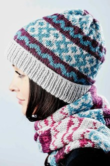 Roosters Fair Isle Hat Kit