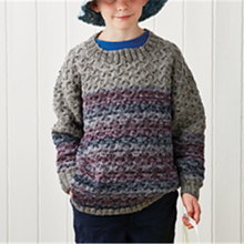 Unisex Child Cable Jumper