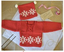 Knit A Long baby/toddler Jumper and hat for Love Knitting