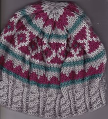 Fair Isle and Cable Beanie