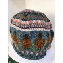 Sheep Beanie Unisex Fair Isle Hat Knitting Kit