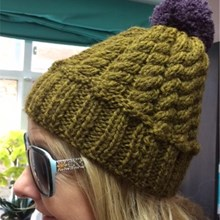 Chunky Cable Hat Kit