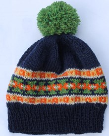 Hat With Fair Isle Border