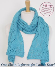 Diamonds Are A Girls Best Friend Scarf Knitting Kit