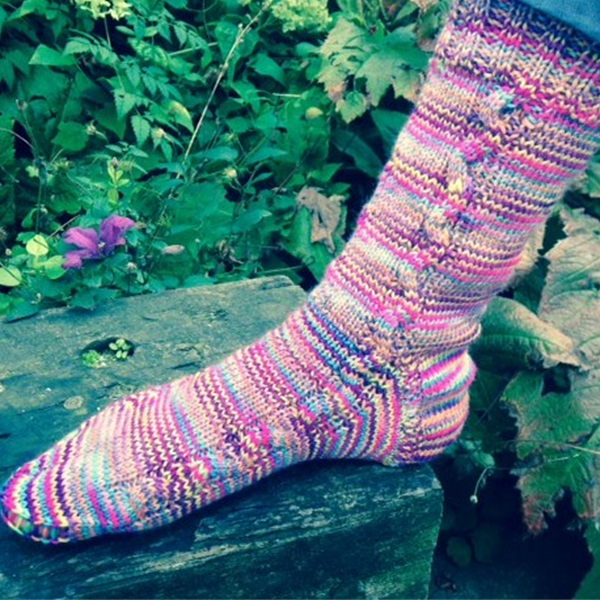 Fab socks made with Manos Del Uruguay Yarn. Choose your favourite colour