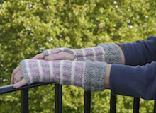 Aztec Fairisle long gauntlet - Downloadable pattern