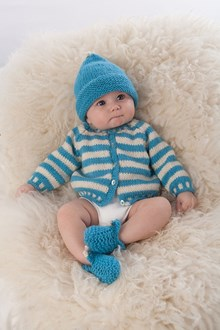 Striped Baby Cardigan - Knitting kit