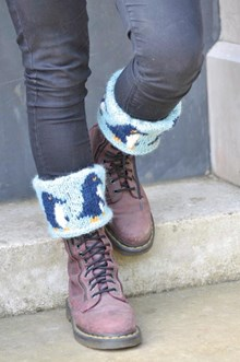 March of the Penguins - Boot Cuffs (Includes book) - Knitting kit