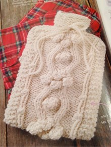 Simply Knitting Cable Hot Water Bottle Cover - Downloadable Knitting Pattern