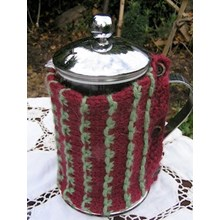 Vintage Cafetiere cover - Downloadable knitting pattern