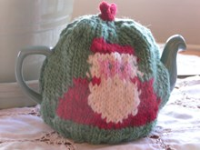 Knitted Father Christmas Tea Cosy