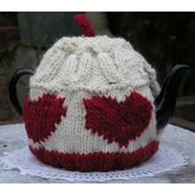 Heart tea cosy - Downloadable pattern