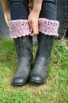 Chic Boot Toppers - Knitting kit