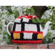 Mondrian Tea Cosy - Downloadable Knitting Pattern