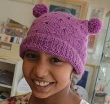 Child Pom Pom hat - Knitting kit