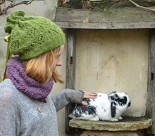 The Snat - a hat that converts into a snood - Downloadable knitting pattern