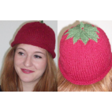 Knitted very berry beanie