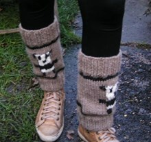 Panda Legwarmers - Knitting kit