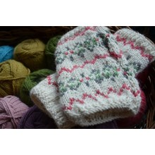 Fair Isle Wristcuffs - Knitting kit