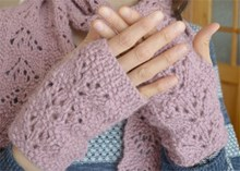 Chic Wrist Warmers - Downloadable knitting pattern