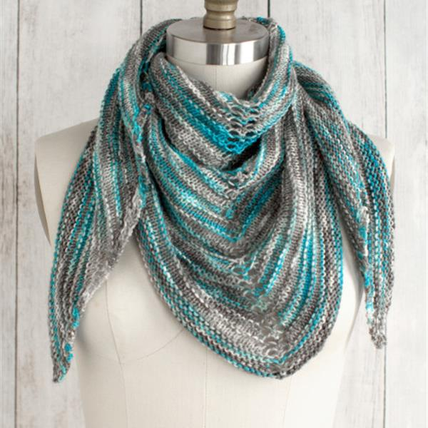 Shawl made from 1 skein of Alegria